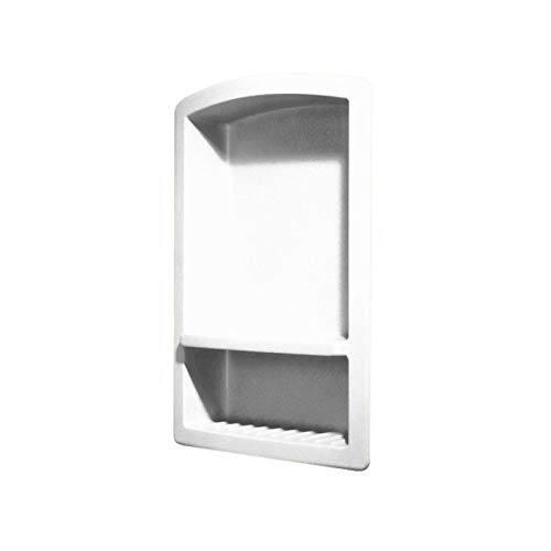 Swanstone RS-2215 Solid Surface Single Shower Shelf, 4.3