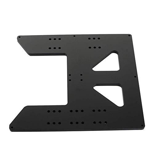 Toaiot Upgrade - Pezzi di ricambio per letto riscaldabile, carrello in alluminio Y, piastra di asse Y anodizzata per Maker Select Wanhao Duplicator i3 i3 Mega Stampanti 3D, colore: Nero