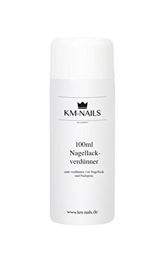 KM-Nails 100ml Nagellackverdünner aus Ethylacetat mit zusätzlichem 10ml Fläschen zum abfüllen und dosieren