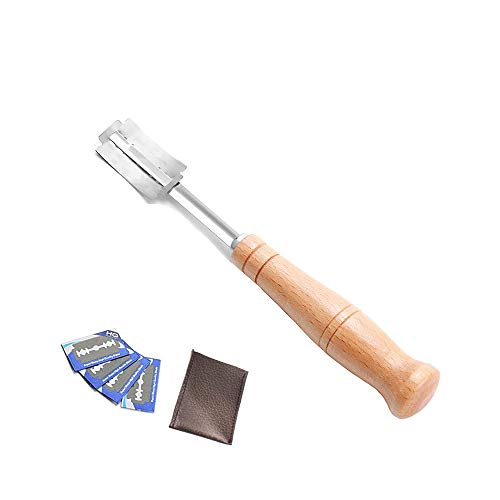 BluVast Bäckermesser,Französisches Brotmesser, Brotmesser Mit Holzgriff,Messer zum Schneiden von Brot Eine