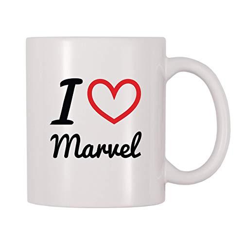 N\A Taza de café con Nombre Personalizado de I Love Marvel