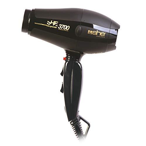 SHE she-3700.Negro secador de pelo, Negro