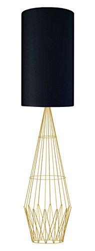 Tosel 51448lámpara de pie 1luz, madera, E27, 40W, verde, 45x 165cm