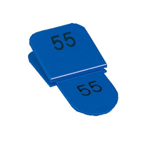 ORIONS 親子番号札 角型 51-100 ブルー CT-3-51-B