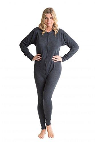 Octave® sous-vêtement Thermique Union Tout en Un Femme/Body Thermique XL Charbon