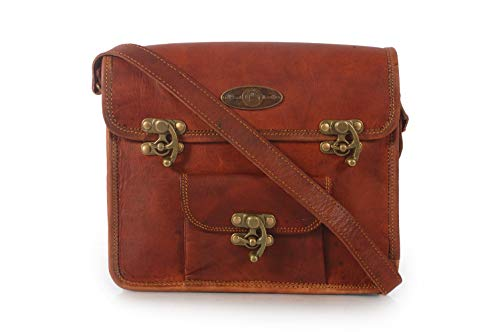 Generic Creative Art and Craft Leather Office Messenger Laptop Organizer Bag Brown, Medium