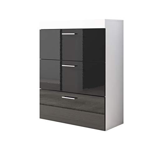 muebles bonitos Cómoda Dalia en Color Blanco y Negro