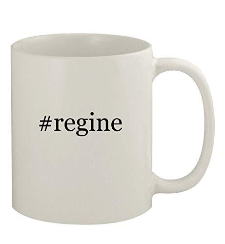 #regine - 11oz Ceramic White Coffee Mug, White