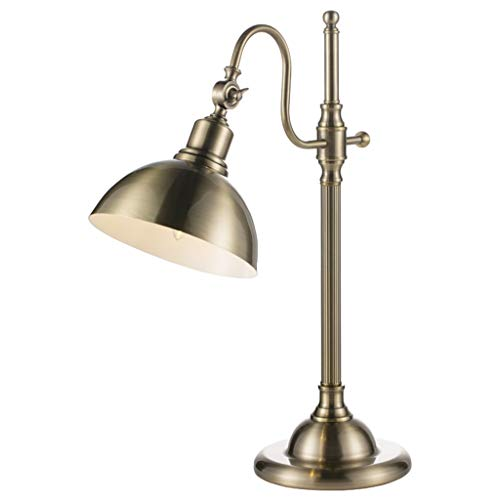 DWW bedlampje van metaal, verstelbare lampenkap, klassiek, industrieel en retro, koperkleurige lampen, imitatie, studio, hoogwaardig