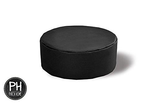 Patchhome Coussin Rond pour intérieur et extérieur 100 x 40 cm en 25 Couleurs :, Noir, 100 x 40 cm