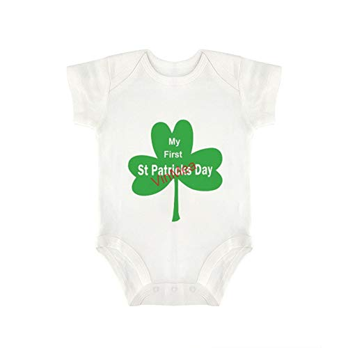 VinMea Baby Bodysuits Funny Short Sleeve My First ST Patricks Day for Sweet Baby Girls & Boys (0-18 Months)