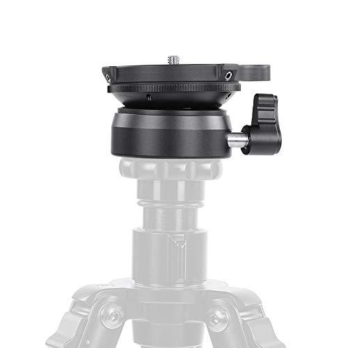 Balhoofd camera houder standaard, draagbare mini statiefkop waterpas basis waterpas met waterpas voor DSLR camera's (DY-60A 1/4 schroef)