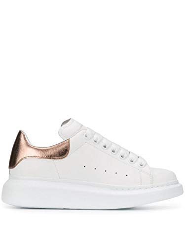 Alexander McQueen Luxury Fashion Damen 553770WHFBU9053 Weiss Leder Sneakers | Jahreszeit Permanent