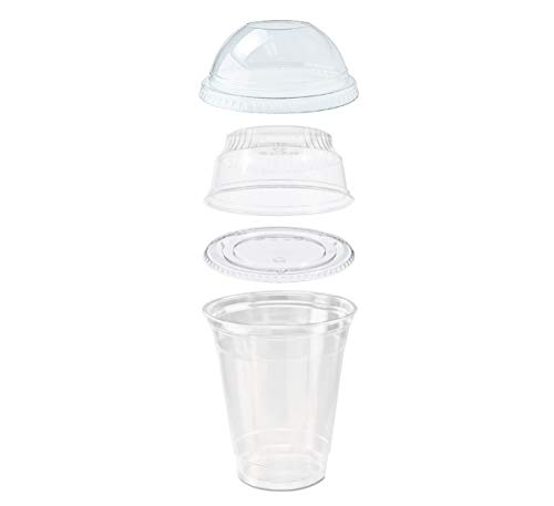 25 count Grab n' Go Parfait/Snack Cup, Includes Insert with Lid, and Dome Lid with Signature Party Picks (12 ounce)