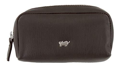 BRAUN BÜFFEL Schlüsseletui Golf 2.0 aus echtem Leder - M Zip - braun