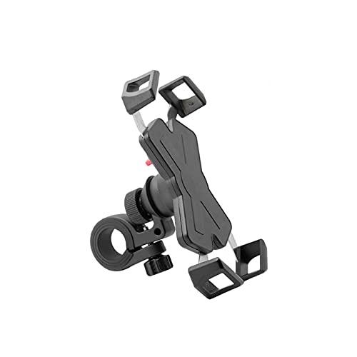 SDFLKAE Soporte giratorio del teléfono de la bici de 360 grados del acero inoxidable anti choque que bloquea el sostenedor estable