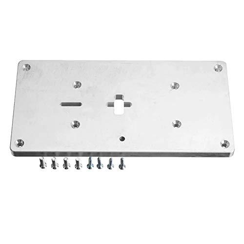XUSHEN-HU La carpintería de aluminio kit router Insertar tabla Placa for sierra de calar for trabajar la madera Bancos con tornillos de fijación duraderos Herramientas