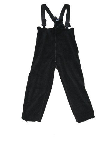 Polartec New USA 200 BIB Thermal Fleece Pants Cold Weather Overalls CW ECW Insulated (Medium/Long) Black
