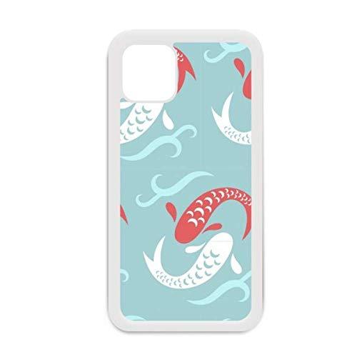 Carp Waves Japan Totem - Carcasa para iPhone 12 Pro Max, diseño de totem japonés, color blanco