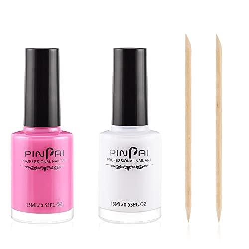 Freeorr 2 Stück Peel off Liquid Tape, Nail Art Peel Off Nail Art Liquid Latex, Hautschutz Fingerschutz für Flüssiglatex Nägel Nagelschutz-15ml