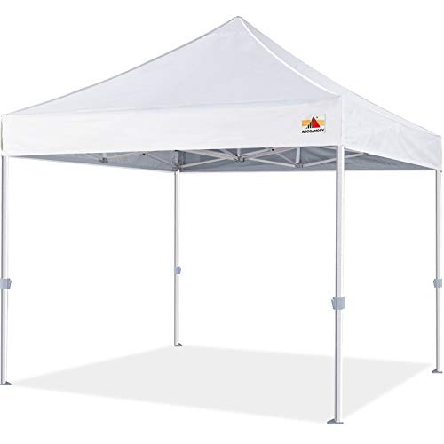 ABCCANOPY Premium Pop Up Canopy Tent 10x10 Commercial Instant Shelter, Bonus Wheeled Carry Bag and 4 Sand Bags, White