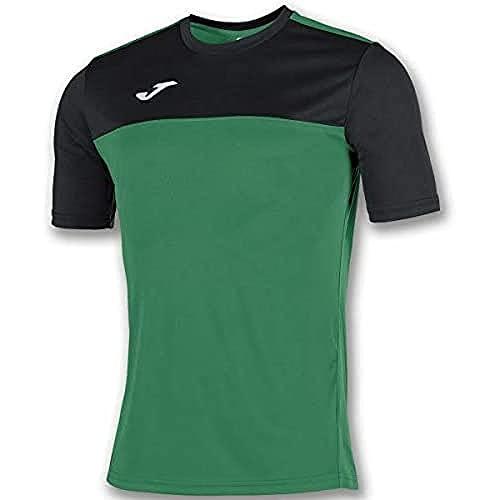 Joma Winner Camisetas Equip. M/C, Hombre, Verde Negro, S