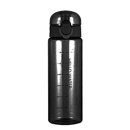 780ml Ciclismo Copas de bicicleta Botella de agua deportiva Botella de agua resistente al calor Botellas de agua plásticas transparentes saludables - Negro transparente 24 * 7.35Cm