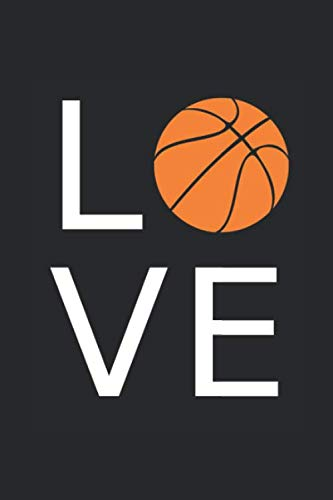Basketball Love: Notebook with 120 Pages, Checkered, 6x9 inches (15,24 cm x 22,86 cm)