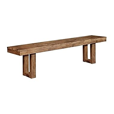 Coaster 105543 Home Furnishings Bench, Wired Brush Nutmeg