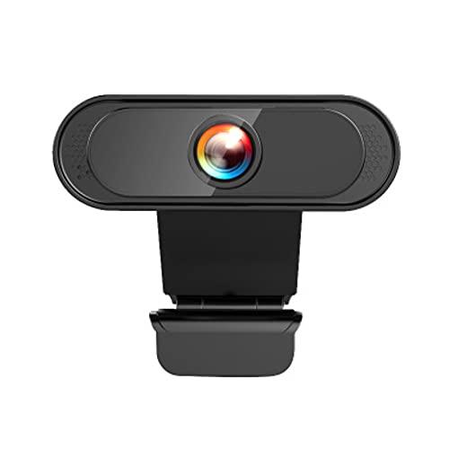 ZOVCAL Webcam PC 1080P con Microfono, Videocamera PC con Microfono a Cancellazione del Rumore per Videochiamata, Studi, Conferenze, Registrazione e Giochi