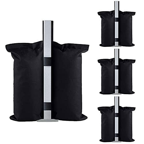 Gazebo pesi Set di 4 pesi pesanti, grado industriale 600D pesi per gambe Gazebo per gambe del gazebo,per Tende Ombrellone Mobili da Esterno Giardino Campeggio Ristorante all'aperto