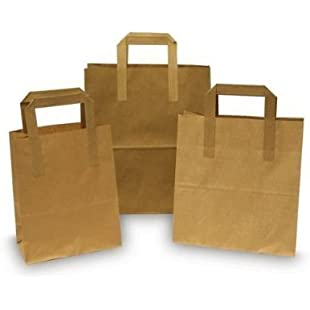 Pure Kraft The Paper Bag Company Paper Bags with Handles, Brown