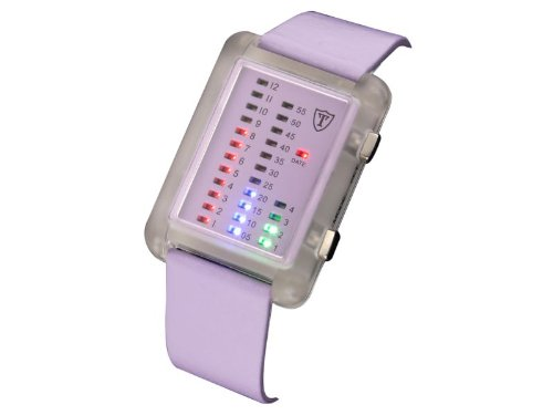 DETOMASO Damen-Armbanduhr Lady Spacy-Timeline Lila Digital Quarz G-30721-PU-LI