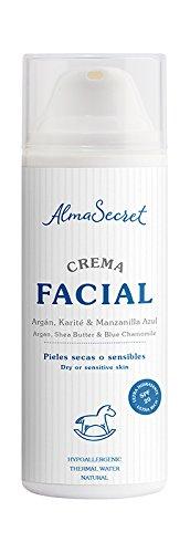 Alma Secret Crema Facial con Argán, Karité & Manzanilla Azul. SPF 20-50 ml