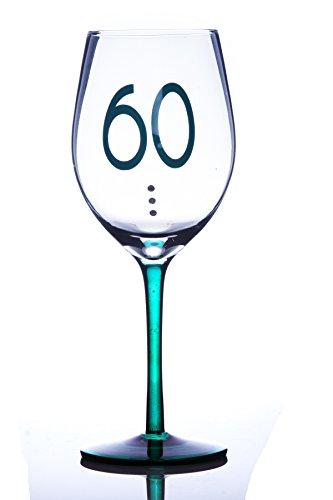 Boxer 60 60E anniversaire Verre à vin avec cristaux dans une boîte cadeau