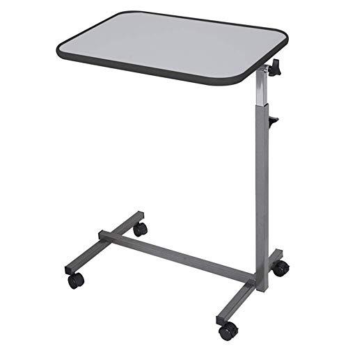 Mesas de cama con ruedas, carrito móvil para computadora portátil, mesa auxiliar de sofá ajustable en altura, escritorio de computadora con ruedas lisas y bloqueables, para sala de estar de oficina e