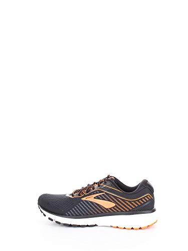 Brooks Ghost 12, Men's Mid-Top Sneaker, Black / Turbulence / Orange, 9 UK (44 EU)