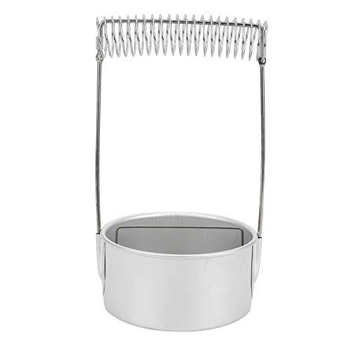 Lavadora de brochas Limpiador de brochas de pintura de aluminio Olla de lavado de brochas con mango Filtro de pantalla Limpiador de brochas Herramientas de pintura para pintura al óleo y acuarela