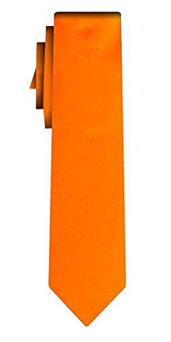 Cravate adoléscent unie solid powerful orange VII