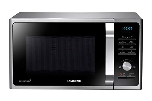 Samsung MWF300G MG2BF303TCS/EG Mikrowelle mit Grill / 900 W / 28 L Garraum (Extra groß) / 51,7 cm Breite / Power Defrost / 26 Automatikprogramme / silber / E-Commerce Verpackung