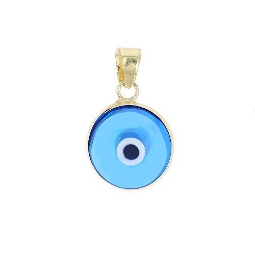 Goldanhänger Glücksauge 585 Blaues Auge Gelbgold 14 Karat Nazar Boncuk 3055