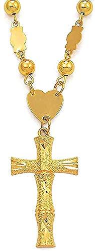 NC198 Collar Collar Cruz y Collar de Perlas Joyas Micronesia Cruces de Bambú para Mujeres Hombres Joyería Guam Collares Marshall para Mujeres Hombres Regalo