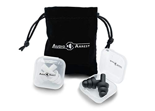 AudioArrest Reusable Silicone Earplugs with Travel Bag  Sleeping Swimming Concerts Shooting Noise Reduction Travel Studying  2 Pair with Bonus Velvet Travel Bag Waterproof  UltraComfortable