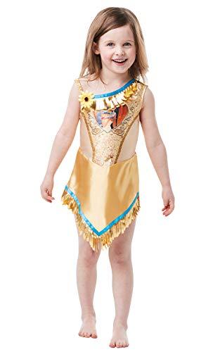 Rubie's Offizielles Disney Prinzessin Pailletten Pocahontas Klassisches Kostüm für Kinder von 2-3 Jahren, Höhe 98 cm