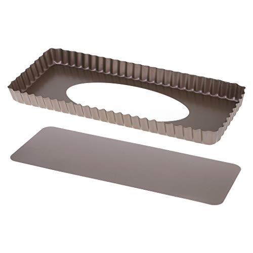 Tarte geriffelte Tarteform, Backform, Backform, Backblech, abnehmbarer Boden, Quiche Antihaftbeschichtung, rechteckig