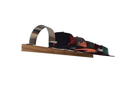 Set: 6 x Edelstahl Caphalter mit Esche Massivholzleiste
