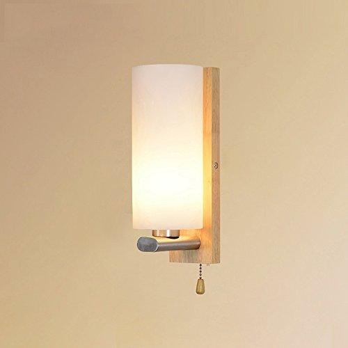 Lampe murale en bois chinoise Nom Royal Creative Nordic Simple Aisle Bedroom Drapeaux de lecture