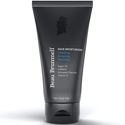 Beau Brummell for Men Matte Finish Face Moisturizer | Quickly Absorbing, Lightweight Face Lotion with Caffeine + Vitamin-E | Anti-aging Properties, For Dry or Oily Skin | Large 5 OZ Tube | Made In USA