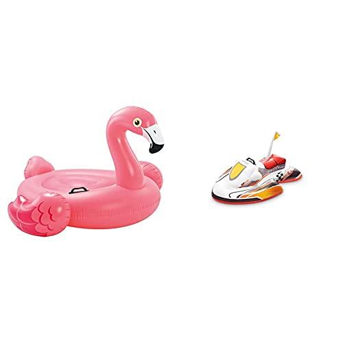 Intex 57558NP Reittier Flamingo Spielzeug, 142 x 137 x 97 cm & 57520NP - Wave Rider Ride-On, 117 x 77 cm
