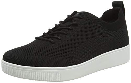 FitFlop Women's Rally Tonal Knit Sneakers, Black, 11